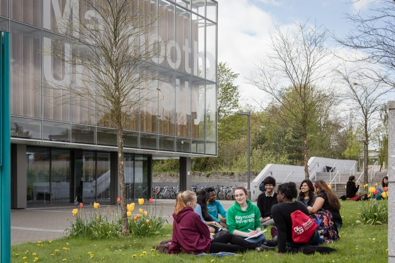 students on Maynooth University campus
